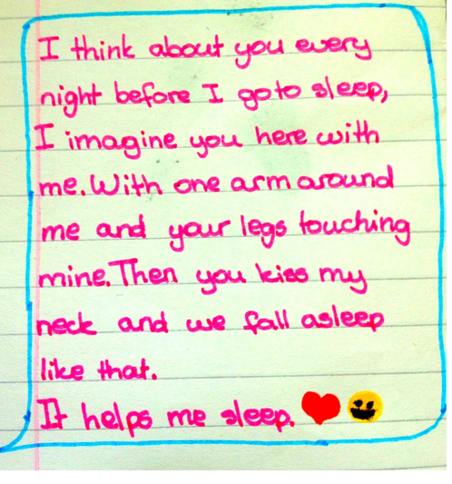 Good night text in writing